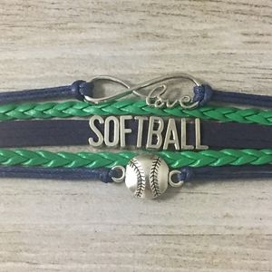 Infinity Collection Softball Bracelet
